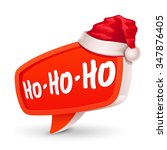 christmas bubble for speech and ... | Shutterstock .eps vector #347876405