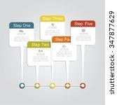infographic design template... | Shutterstock .eps vector #347877629