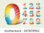 joyful 3d bright numbers. in... | Shutterstock .eps vector #347878961