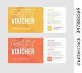 gift voucher template set. two... | Shutterstock .eps vector #347883269