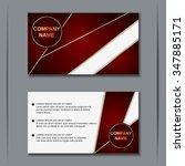 modern visiting card  banner ... | Shutterstock .eps vector #347885171