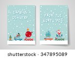 merry christmas set of card... | Shutterstock .eps vector #347895089