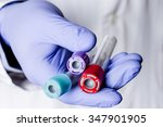 test tubes in laboratory for ... | Shutterstock . vector #347901905