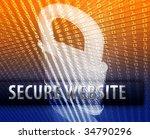 online computer security... | Shutterstock . vector #34790296