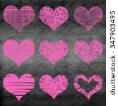 chalk drawn vector collection... | Shutterstock .eps vector #347903495