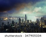 hong kong from the victoria peak | Shutterstock . vector #347905334