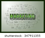 business success and marketing...   Shutterstock .eps vector #347911355