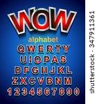 festive alphapet font to use...   Shutterstock .eps vector #347911361