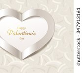 valentine's day or wedding... | Shutterstock .eps vector #347913161