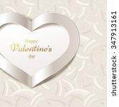 valentine's day or wedding... | Shutterstock .eps vector #347913161