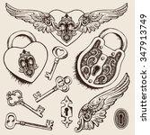 Keys And Locks Vector...