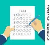 answers to exam test answer... | Shutterstock .eps vector #347918219