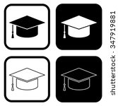 graduation cap or hat icon .... | Shutterstock .eps vector #347919881