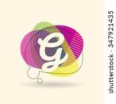 g letter alphabet logo icon... | Shutterstock .eps vector #347921435