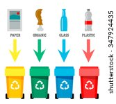 different colored recycle waste ... | Shutterstock .eps vector #347924435