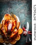 Roasted Christmas Turkey With...