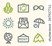 travel web icons   Shutterstock .eps vector #347927711