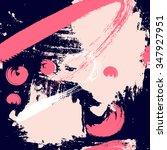 hand drawn brush hipster... | Shutterstock .eps vector #347927951