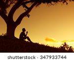 Man Praying  Meditating In...