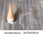 Flipped Vanilla Ice Cream In A...
