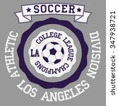 soccer badge los angeles... | Shutterstock .eps vector #347938721