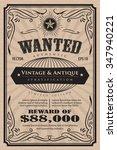 western vintage frame label... | Shutterstock .eps vector #347940221