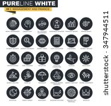 thin line web icons collection... | Shutterstock .eps vector #347944511