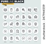 set of thin line web icons of e ... | Shutterstock .eps vector #347944559