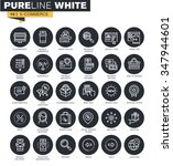 thin line web icons collection... | Shutterstock .eps vector #347944601