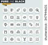 set of thin line web icons of... | Shutterstock .eps vector #347944631