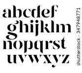 vector elegant black letters  | Shutterstock .eps vector #347948771