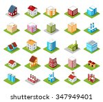 city flat 3d isometric objects. ... | Shutterstock .eps vector #347949401