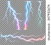 thunder storm vector realistic... | Shutterstock .eps vector #347952674