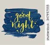"""good night"" poster. vector... | Shutterstock .eps vector #347957555"