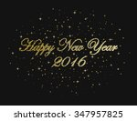 happy new year on a black... | Shutterstock . vector #347957825