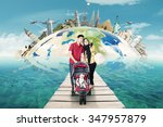 concept of traveling around the ... | Shutterstock . vector #347957879