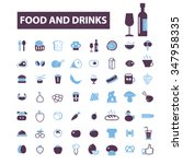 food  drinks  grocery  icons ... | Shutterstock .eps vector #347958335