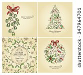 vector set  christmas cards