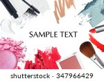 brush and cosmetic background | Shutterstock . vector #347966429