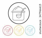 pot line icon | Shutterstock .eps vector #347966615