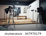film studio with cameras and... | Shutterstock . vector #347970179