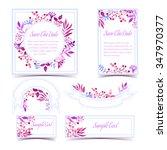 vector set of invitation cards... | Shutterstock .eps vector #347970377