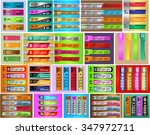 colorful modern text box... | Shutterstock .eps vector #347972711