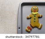 gingerbread man with broken leg ... | Shutterstock . vector #34797781