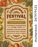 vintage christmas festival... | Shutterstock .eps vector #347979131