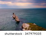 the needles  lighthouse  isle... | Shutterstock . vector #347979335