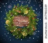 christmas greeting card  ... | Shutterstock .eps vector #347981039