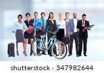 group of business people over... | Shutterstock . vector #347982644