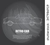 illustration of retro car.... | Shutterstock .eps vector #347986919