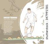 illustration of soccer training.... | Shutterstock .eps vector #347991581